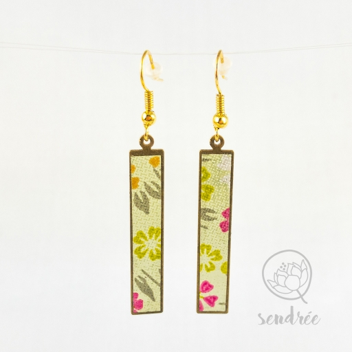 BO washi estampe mini sakura vert sendrée papier japonais