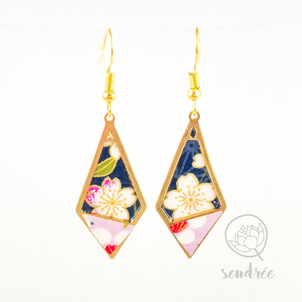 BO losange S washi cerisier sendrée papier japonais