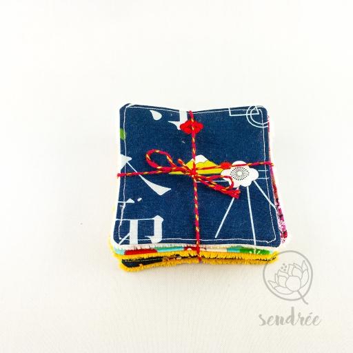 Set lingettes classique Japon sendrée tissu japonais