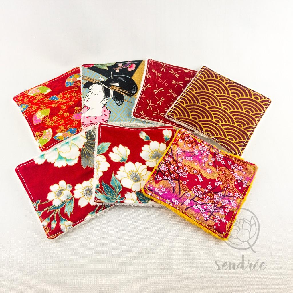 Set lingettes Osaka sendrée tissu japonais