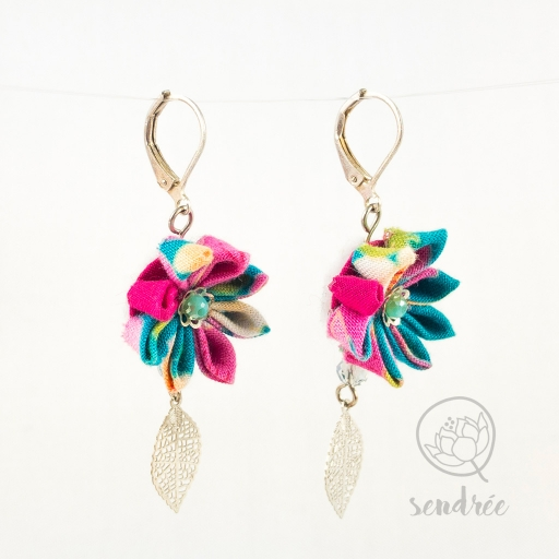 BO fleurs summer sendrée tissu japonais