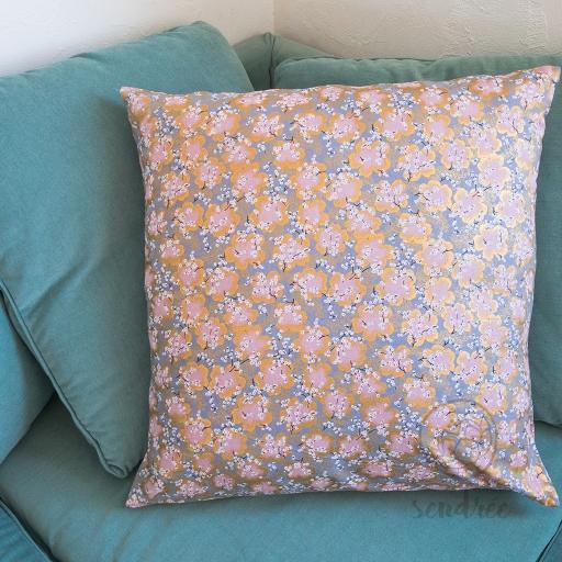 Taie d'oreiller mini sakura rose sendrée tissu japonais