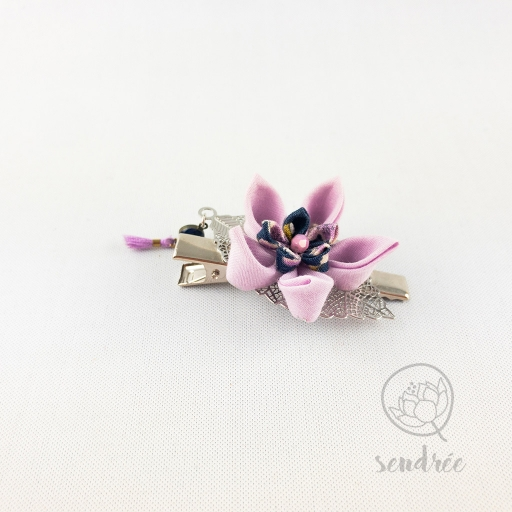 Pince croco lilac flower sendrée tsumami zaiku
