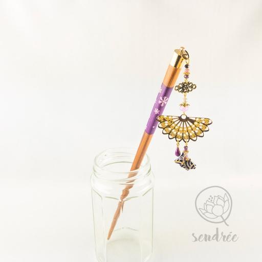 Pic origami lapin violet sendrée papier japonais
