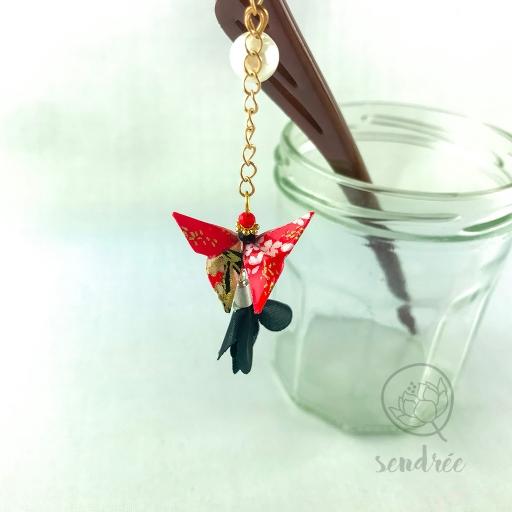 Pic moyen origami papillon red sendrée papier japonais