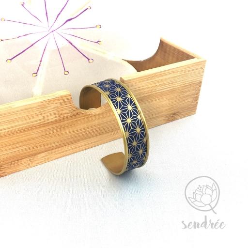 Bracelet washi bleu Sendrée papier japonais