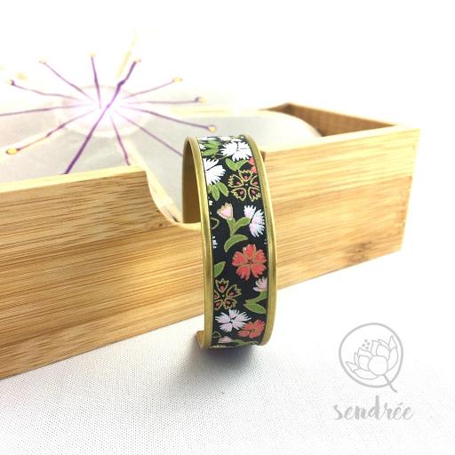 Bracelet washi sakura noir Sendrée papier japonais