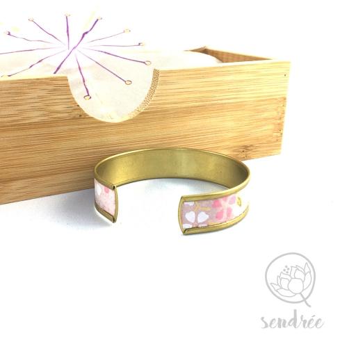 Bracelet washi cerisier rose Sendrée papier japonais