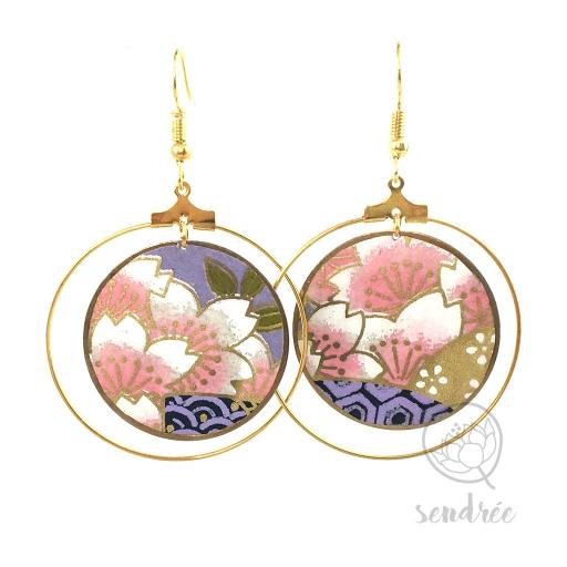 BO washi cerisier violet Sendrée papier japonais