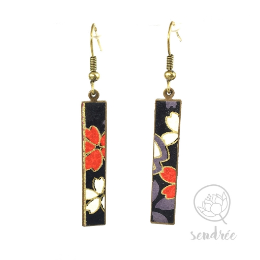 BO washi estampe sakura violet sendrée papier japonais