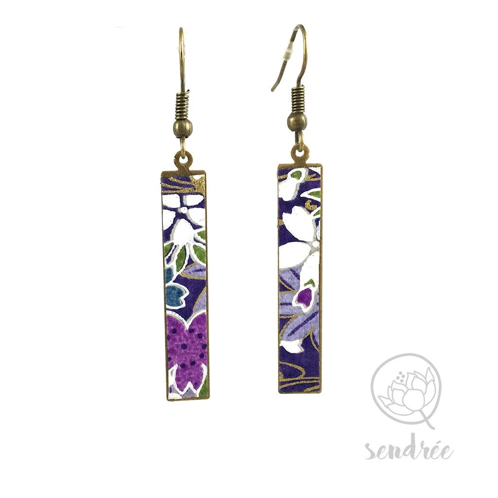 BO washi estampe sakura violet sendrée paper japonais