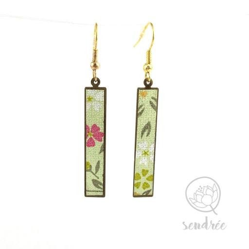 BO washi estampe sakura vert sendrée papier japonais
