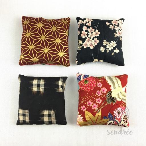 Lavande gamme rouge noire sendrée tissu japonais