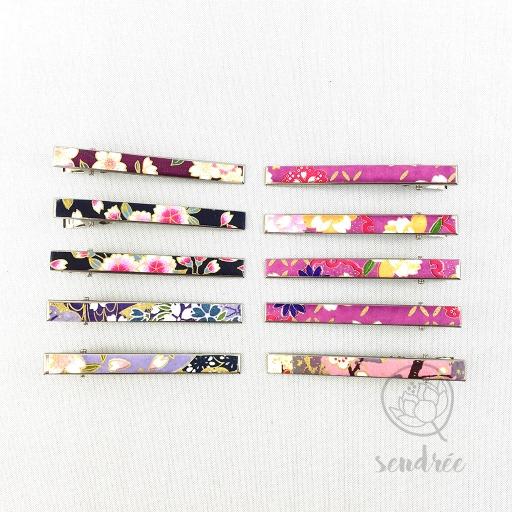 Pince croco longue gamme violette rose sendrée papier japonais