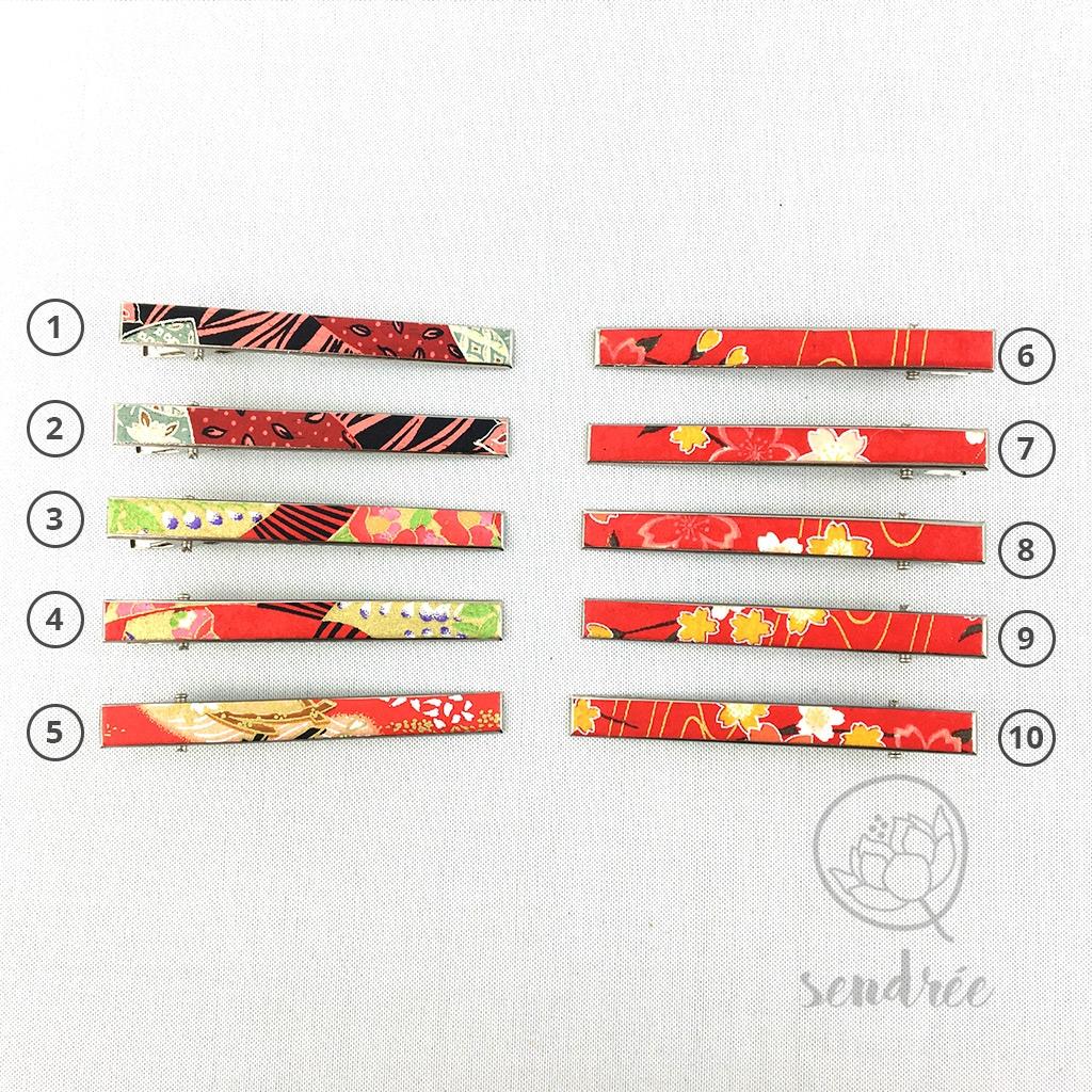 Pince croco longue gamme rouge 2 sendrée papier japonais