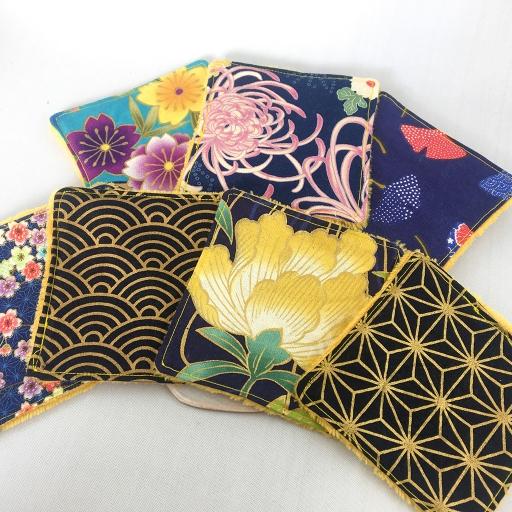 Set lingettes flower blossom sendrée tissu japonais