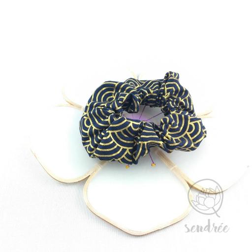Chouchou nami or sendrée tissu japonais