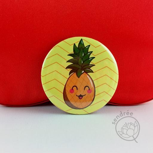 Badge Ananas sendrée