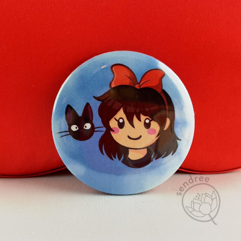 Badge Kiki la petite sorcière sendrée