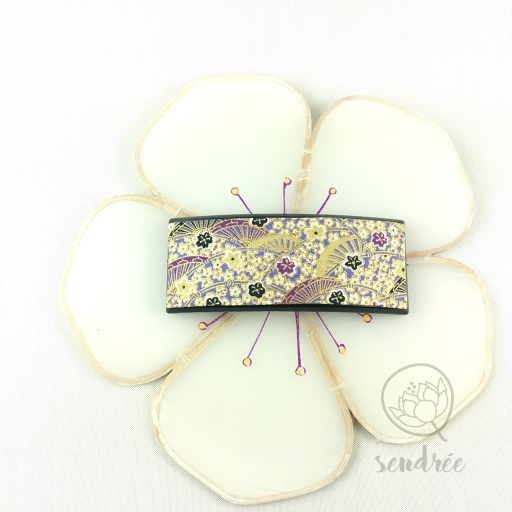 Barrette L lavande purple