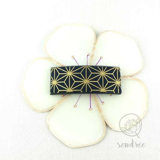 Barrette accessoire cheveux tissu japonais coton Sendrée
